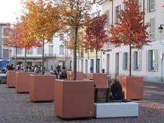 Fioriera per spazi pubblici quadrata in calcestruzzoANDROMEDA | Fioriera per spazi pubblici quadrata - CALZOLARI
