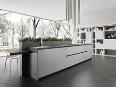 Cucina componibile laccata in Fenix-NTM® con isola ANDROMEDA | Cucina in Fenix-NTM® - Andromeda