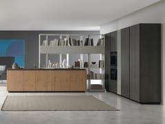 Cucina componibile in rovere con isola ANDROMEDA | Cucina in rovere - Andromeda