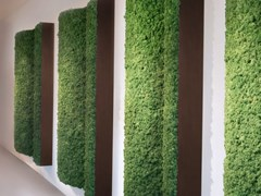 GREEN MOOD, ANGLED PILLARS Pannello decorativo acustico