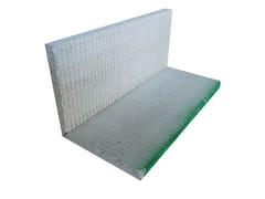 Cornice in cemento alleggerito ANGOLO V 90° | Cornice in cemento - Lastra +