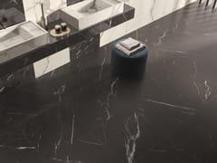 Pavimento/rivestimento in gres porcellanato effetto marmoANIMA FUTURA UNIQUE BLACK - CERAMICHE CAESAR