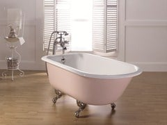 Vasca da bagno centro stanza ovale in ghisa su piediANIS   Vasca da bagno su piedi - BLEU PROVENCE