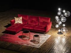 Divano componibile sfoderabile in tessuto con chaise longue ANITA   Divano con chaise longue -
