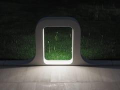 Lampada da terra per esterno a LED in cementoANTARES - FAVARO1