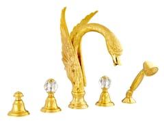 Set vasca a 5 fori con cristalli Swarovski® ANTARTICA SWAN | Set vasca con cristalli Swarovski® - Antartica Swan