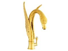 Miscelatore per lavabo monocomando con cristalli Swarovski® ANTARTICA SWAN | Miscelatore per lavabo con cristalli Swarovski® - Antartica Swan