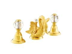 Rubinetto per lavabo a 3 fori con cristalli Swarovski® ANTARTICA SWAN | Rubinetto per lavabo con cristalli Swarovski® - Antartica Swan