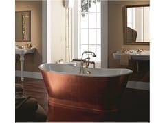 BLEU PROVENCE, ANTICA COPPER Vasca da bagno centro stanza in rame