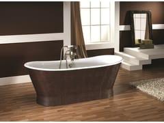 Vasca da bagno centro stanza ovale in cuoio ANTICA HIDE - Vasche freestanding