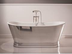 Vasca da bagno centro stanza in acciaio ANTICA STEEL - Vasche freestanding