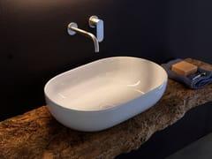 Lavabo da appoggio ovale in ceramicaAPP | Lavabo ovale - CERAMICA FLAMINIA