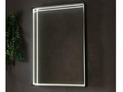Specchio rettangolare con illuminazione integrata da pareteAPP | Specchio rettangolare - CERAMICA FLAMINIA