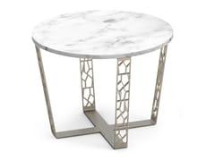 Tavolino rotondo in marmo Carrara e metalloARABESQUE | Tavolino - ALBEDO S.R.L. UNIPERSONALE