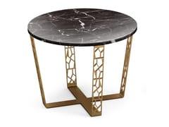 Tavolino rotondo in marmo Nero Marquina e metalloARABESQUE | Tavolino in marmo - ALBEDO S.R.L. UNIPERSONALE