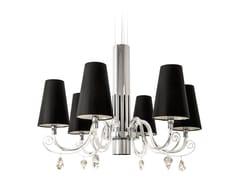 Lampadario in cristallo con cristalli Swarovski® ARABIAN PEARLS H6+1 | Lampadario con cristalli Swarovski® - Arabian Pearls