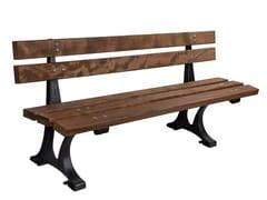 Panchina in legno con schienaleARALIA - CALZOLARI