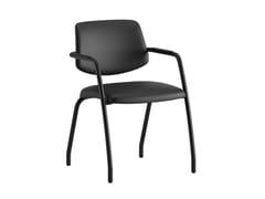 Sedia ufficio in pelle con braccioliARCADE | Sedia in pelle - ERSA MOBILYA