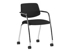 Sedia ufficio in tessuto con braccioli con ruoteARCADE | Sedia ufficio con ruote - ERSA MOBILYA