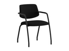 Sedia ufficio in tessuto con braccioliARCADE | Sedia in tessuto - ERSA MOBILYA
