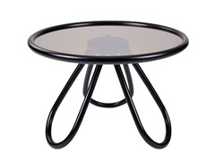 Tavolino rotondo in legno e vetro ARCH COFFEE TABLE   Tavolino in legno e vetro - Arch
