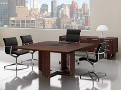 Tavolo da riunione quadrato in wengèARCHE | Tavolo da riunione in wengè - BRALCO
