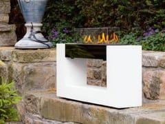 Caminetto freestanding in acciaio inox e vetro a bioetanoloARCHITECTURE SL - SPARTHERM® FEUERUNGSTECHNIK