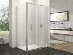 Provex Industrie, ARCO AN + WD-1 Box doccia in vetro con porta scorrevole