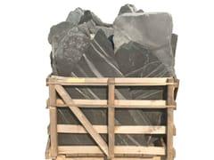 Pavimento per esterni in pietra naturaleARDESIA SPAGNOLA NERA EXTRA - GRANULATI ZANDOBBIO