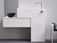 Lavabo rettangolare in Corian® con cassetti ARGO UNICO | Lavabo - Unico