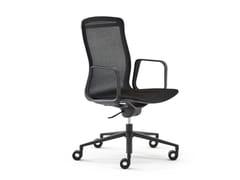Sedia ufficio ad altezza regolabile in rete con ruoteARIA | Sedia ufficio con ruote - ESTEL GROUP
