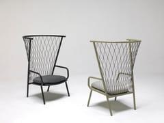 Poltrona da giardino in alluminio con schienale altoNEF | Poltrona da giardino - EMU GROUP