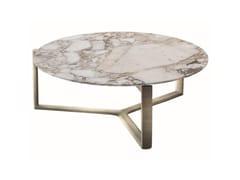 Tavolino basso rotondo in marmo con struttura in metalloARNE | Tavolino basso - CASAMILANO