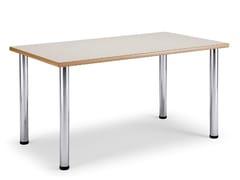 Tavolo rettangolare in laminato e acciaioARNO 3 | Tavolo rettangolare - LEYFORM