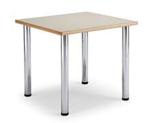 Tavolo quadrato in laminato e acciaioARNO 3 | Tavolo quadrato - LEYFORM