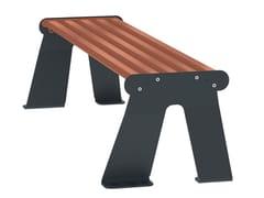 Arco, ARS 003 bicolore Panchina in acciaio verniciato a polvere senza schienale