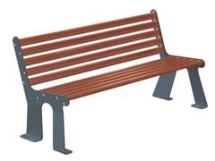 Arco, ARS 005 bicolore Panchina in acciaio verniciato a polvere con schienale