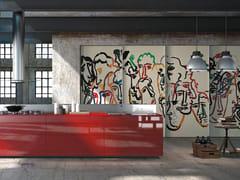 Cucina componibile in vetro decorato ARTEMATICA VITRUM ARTE - SANDRO CHIA - Artematica