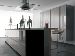 Cucina componibile in vetro ARTEMATICA VITRUM - BIANCO NUVOLA - Artematica
