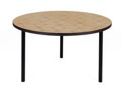 Tavolino rotondo in legno impiallacciato ARTY 70 TRIANGLE - Arty