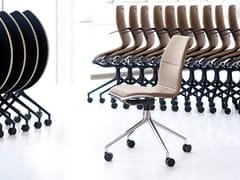 Sedia ufficio in pelle a 4 razze con ruoteAS100 | Sedia ufficio - HOWE