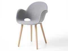 Sedia imbottita in legno con braccioliASA | Sedia con braccioli - ALBAPLUS BY METALMECCANICA ALBA