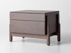 Comodino rettangolare in legno con cassettiASH | Comodino - ZEGEN