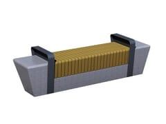 Panchina in legno senza schienaleASHINGTON S - EUROFORM K. WINKLER