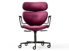 Sedia ufficio in tessuto con braccioliASIA OFFICE - BLACK TIE