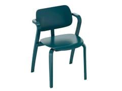 Sedia impilabile in faggio con braccioliASLAK - ARTEK