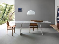 Tavolo rettangolare in marmo con due supportiASOLO - AGAPECASA
