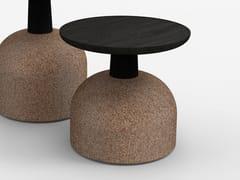 Tavolino basso rotondo in legno ASSEMBLAGE | Tavolino basso -