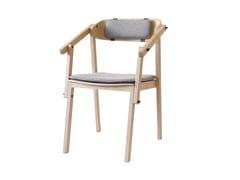 Sedia in frassino con cuscino integratoATELIER | Sedia con braccioli - ASKIA