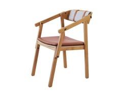 Sedia in pelle con cuscino integratoATELIER | Sedia con cuscino integrato - ASKIA
